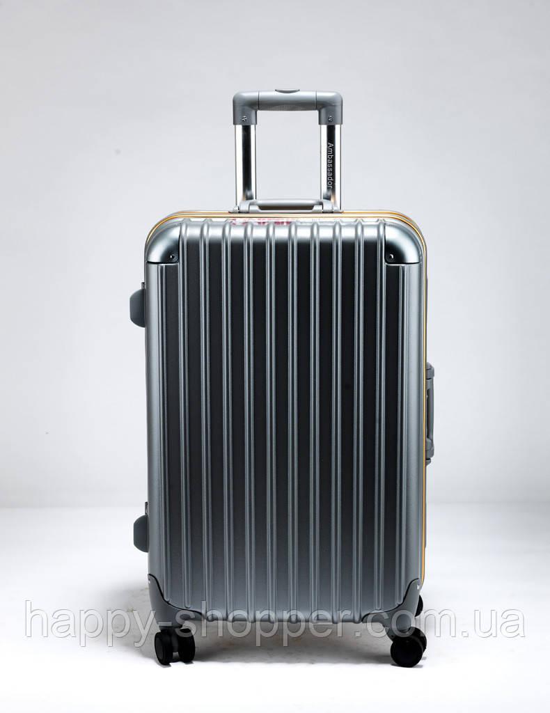 Малый графитовый чемодан Ambassador Hardcase