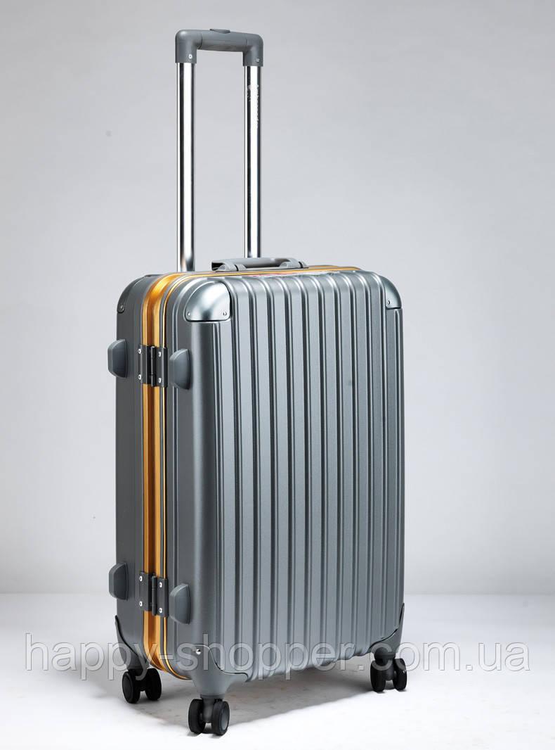 Средний графитовый чемодан Ambassador Hardcase