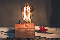 Светильник Эдисона 2 / Ретро настольная лампа в стиле Лофт