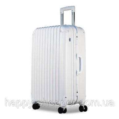 Большой белый чемодан Ambassador Hardcase