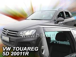Дефлекторы окон (ветровики)   VW Touareg 2010-> 5D 4шт (Heko)