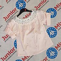 Детские летние блузки для девочек оптом