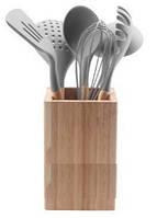 Набор кухонных аксессуаров 6 шт в деревянной подставке MaxMark TL163