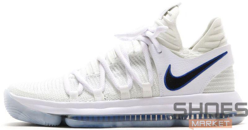Мужские кроссовки Nike Zoom Kd10 Ep White Game Royal-University Gold 897816-101,  Найк Зум