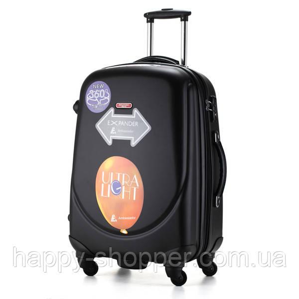 Средний чёрный чемодан Ambassador Classic