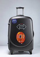 Средний графитовый чемодан Ambassador Classic, фото 1
