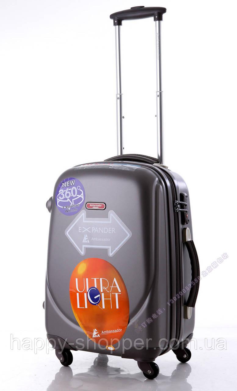 Малый графитовый чемодан Ambassador Classic