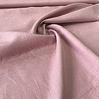 Лён пудровый розовый сорочечный, ширина 150 см
