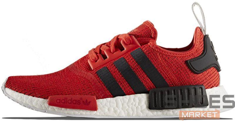 Мужские кроссовки Adidas NMD R1 Red Black BB2885, Адидас НМД