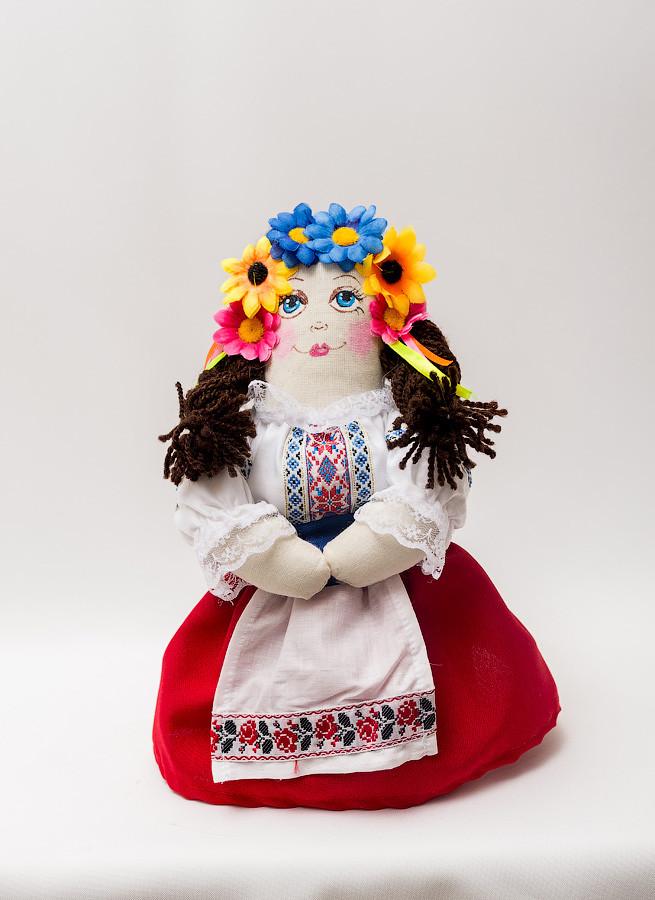Мягкая Кукла Украина, цельная выкройка, девочка 25-30 см.