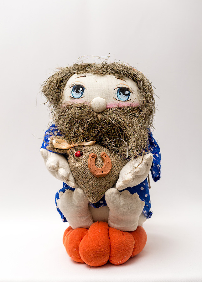 Домовёнок  Vikamade кукла весёлый