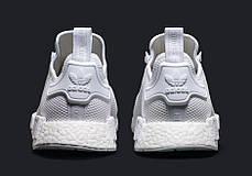 Мужские кроссовки Adidas NMD R1 Triple White, Адидас НМД, фото 2