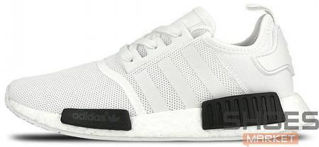 Мужские кроссовки Adidas NMD R1 Oreo White/Core Black BB1968, Адидас НМД, фото 2