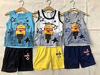 Детские трикотажные костюмы для мальчиков малюток с шортами и майкой FDkids