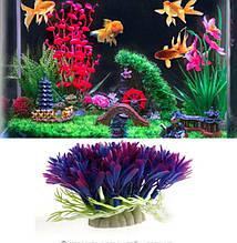 Рослина в акваріум штучне - висота 6 см, пластик, камінь