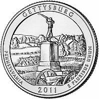 США 25 центов 2011, 6 Парк Национальный парк Геттисберг, штат Пенсильвания