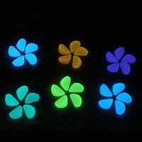 Светящиеся разноцветные камушки в аквариум - 10шт. (размер одного камня 1,5-2,5см)