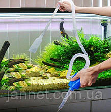 Сифон для чистки аквариума - 145см, плстик
