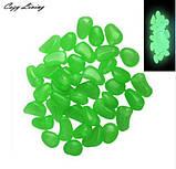 Фосфорные салатовые камни в аквариум - в наборе 10штук, (размер одного камня 1,5-2,5см), фото 2