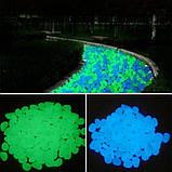 Фосфорные салатовые камни в аквариум - в наборе 10штук, (размер одного камня 1,5-2,5см), фото 3