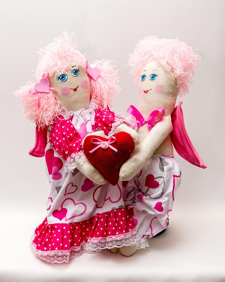 Кукла Валентинки пара большая