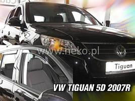 Дефлекторы окон (ветровики)   VW Tiguan 2007 -> 4D 4шт (Heko)