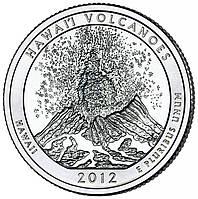 США 25 центов 2012, 14 Парк Национальный парк Хавайи-Волкейнос, штат Гавайи