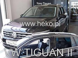 Дефлектори вікон (вітровики) VW Tiguan 2016 -> 5D 4шт (Heko)