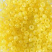 Бисер, № 414 / 02281, Размер №10, Цвет: Бледно-жёлтый, Вид: Алебастровый, Упаковка: 5 грамм