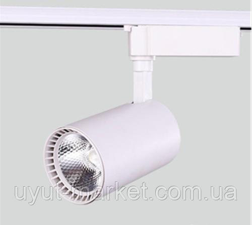 Трековый светодиодный светильник 30Вт 6000K белый, LM516 , фото 1