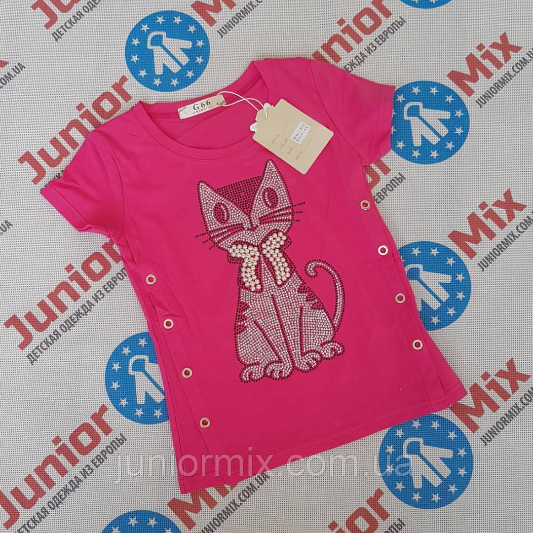 Детские летние трикотажные футболки для девочек оптом G66