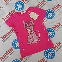 Детские летние трикотажные футболки для девочек оптом G66, фото 1