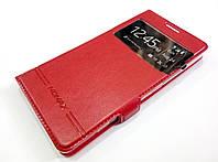 Чехол книжка с окошком momax для Microsoft Lumia 950 красный