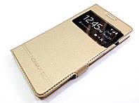 Чехол книжка с окошком momax для Microsoft Lumia 950 золотой