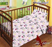 Комплект постельного белья в кроватку  для девочек Панды, фото 1