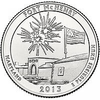 США 25 центов 2013, 19 Парк Форт Мак-Генри, штат Мэриленд