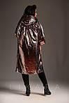Стильный женский плащ металлик ботал, фото 3