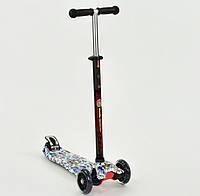 Самокат  Best Scooter 1306 4 колеса свет, PU, трубка руля алюминиевая, в коробке, фото 1