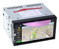 Автомагнитола 2 дин din PI-803 на дисках CD/DVD TV тюнер GPS сенсор 7 виндовс  магнітола Піонер GPS навигатор