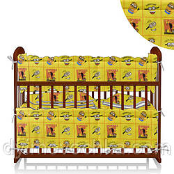 """Детский постельный комплект белья Балу """" Миньоны"""", 4 элемента, цвет жёлтый ТМ Алекс"""