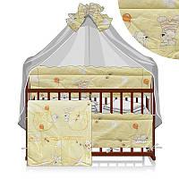 """Детский постельный комплект белья """"Мишка, пчёлки, бабочка"""", 8 предметов ТМ Алекс"""