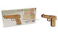 Бесплатная доставка. Деревянный механический конструктор Wood Trick Пистолет.Техника сборки - 3d пазл , фото 1
