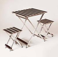 """Комплект """"ALUWOOD малый"""" Стол малый + 2 стула , фото 1"""