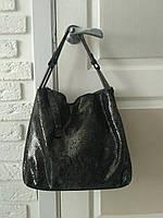 "Женская кожаная сумка ""Лазерка 4 Dark Gray"""