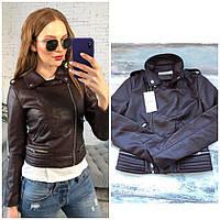 Супер стильная  короткая кожаная куртка , фото 1