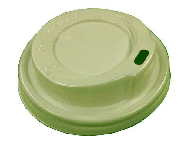 Крышки для бумажных стаканов белые 300 мл и 340 мл Ø80мм (Маэстро), 50 шт/пач
