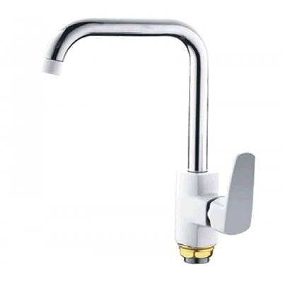 Смеситель для кухни MIXXUS MISSOURI 014-G с высоким Г-образным гусаком WHITE