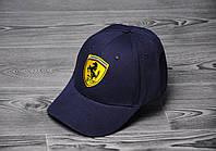 Кепка Ferrari Темно-Синяя Топ Реплика