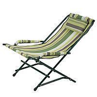 """Кресло """"Качалка"""" d20 мм (текстилен зеленая полоса), фото 1"""