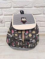 """Яркий большой тканевый рюкзак """"Совы Color"""", фото 1"""